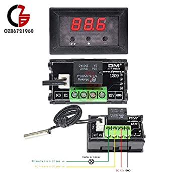 W1209 12V Digital Thermostat Temperature Controller Switch Sensor 50-110°C +Case