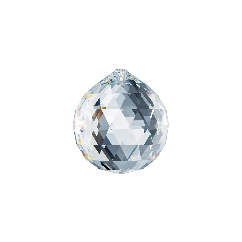 Swarovski Spectra Crystal 30mm Clear Lead Free Feng Shui Crystal Ball, Very Crystal Made in Austria with Certificate