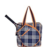 Ame & Lulu Icon Tennis Bag Abbey Plaid