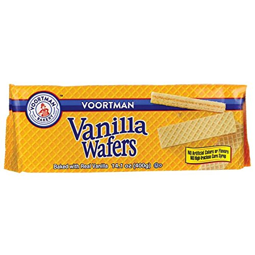 Voortman Bakery, Vanilla Wafer Cookies – Delicious, Crisp Wafer Cookies with No Artificial Colors, Flavors or High - Fructose Corn Syrup, 14.1 oz, Pack of 4
