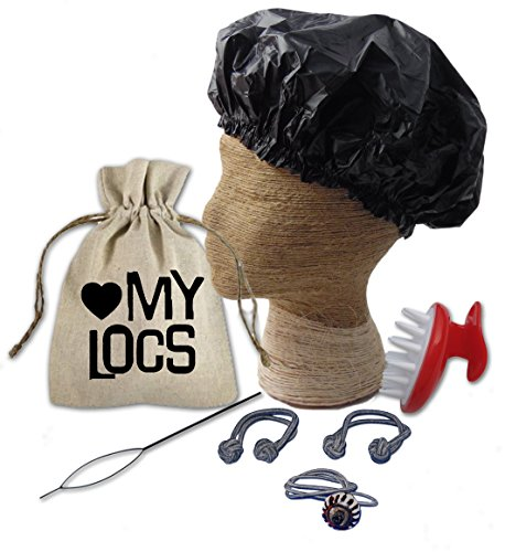 Love My Locs Dreadlocks Essential Kit & Gift Set for Dreadlock Maintenance (Black Batik Loc Tie)