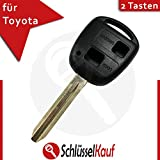 Toyota Keyring Car Key Replacement Shell with Blank Blade 2 Button – Size: 48 mm x 8 mm