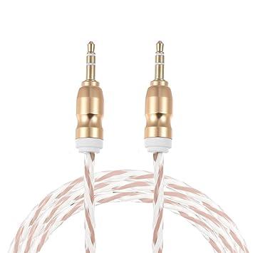 ammoon Audio Cable Jack de 3.5mm a Jack de 3,5 mm Aux Auxiliar Conector ...
