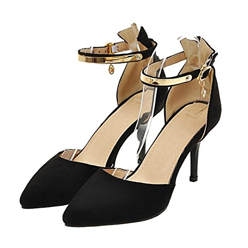 COOLCEPT Damen Sommer DOrsay Pumps Black-8.5CM