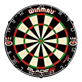 Winmau Blade 5 Dual Core Bristle Dartboard with Increased Scoring Area and Improved Dart Deflection for Reduced Bounce-Outs