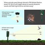 Cat Dog Repellent Repeller,Ultrasonic Solar Powered Motion Activated Fox Raccoon Rat Squirrel Animal Pest Repellent Repeller Control Outdoor
