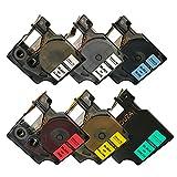 "NEOUZA 4PK Compatible for DYMO D1 Standard Label Tape 1/2"" x 23' 12mm x 7m (Black Print 45010 45013 45016 45017 45018 45019)"