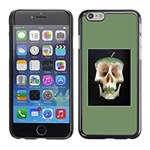 Colorful Printed Hard Protective Back Case Cover Shell Skin for Apple iPhone 6(4.7 inches) ( Apple Doctor Away Death Skull Core )