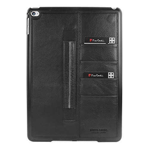 pierre-cardin-wallet-card-genuine-leather-cover-wrist-strap-case-skin-for-apple-ipad-air-2-black