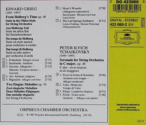 Grieg: Holberg Suite op. 40, Two Elegiac Melodies op. 34 / Tchaikovsky: Serenade for Strings op. 48