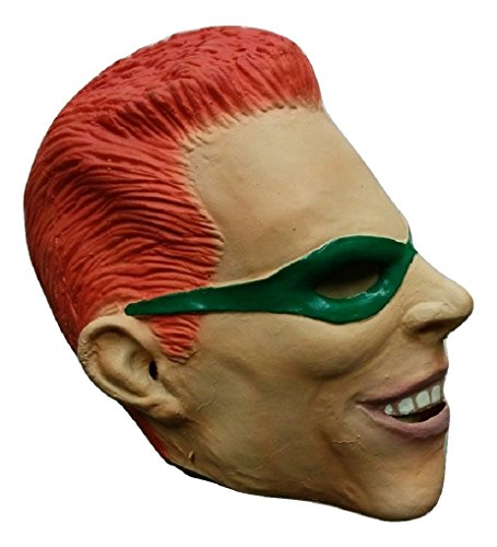 Adult The Riddler Villain Latex Licensed Batman Vintage Mask Costume Accessory