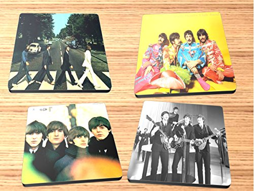- Beatles Reproduction of Record Albums Neoprene Coaster Set of 4 Rock and Roll