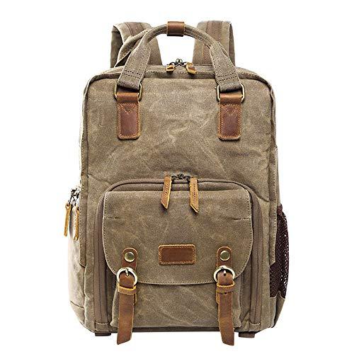 - Hot Premium Vintage Photography Backpack Waterproof Photography Canvas Bag Khaki