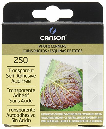 f Adhesive Photo Corners (250 Pack) (Canson Scrapbook)