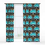 Society6 1960 Corvette Window Curtains Single Panel