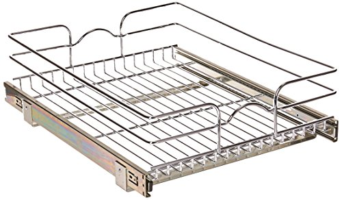 Rev-A-Shelf - 5WB1-1822-CR - 18 in. W x 22 in. D Base Cabinet Pull-Out Chrome Wire Basket
