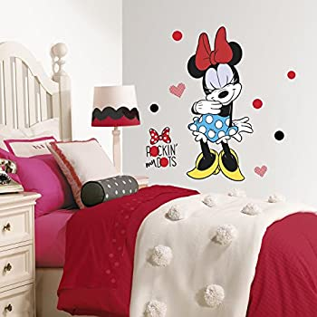 Roommates RMK3258GM Minnie Rocks The Dots Peel & Stick Giant Wall Decals,