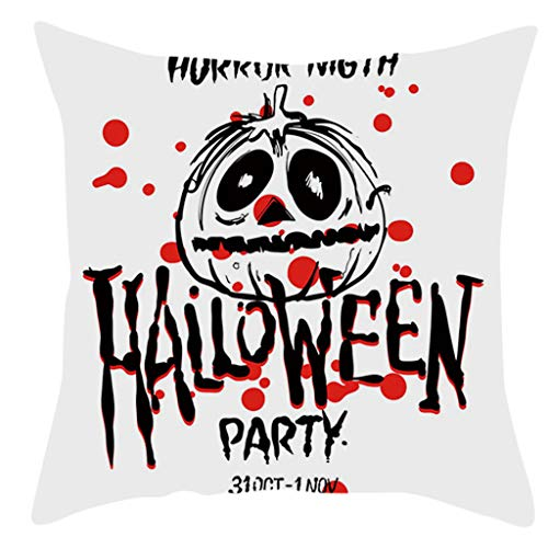 Jocome Throw Pillow Case,Home Decor Halloween Pumpkin Pillow Case Waist Sofa Cases Throw Pillow Decorative Pillow Wedding Birthday -