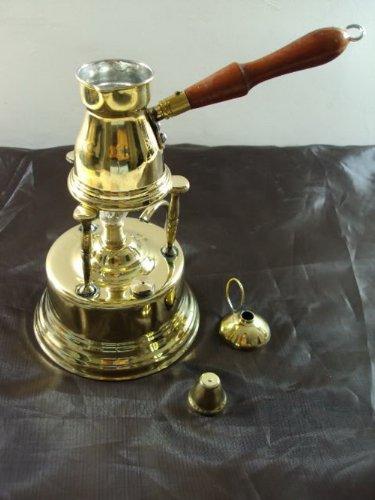Brass Turkish Coffee Maker (Alcohol Burner) + Pot Ibrik 428