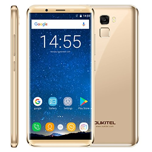OUKITEL K5000 4GB+64GB 5.7 inch 2.5D Android 7.0 MTK6750T Octa Core up to 1.5GHz WCDMA & GSM & FDD-LTE (Gold)