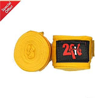 2 Coupe Rouge 1 Paire de main Wraps de main de boxe MMA UFC pour protection de poignet (Jaune) www.2fit.co Red