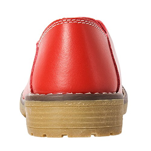Aleader Bailarinas Mujer Para Loafers Red r0qCZrHw