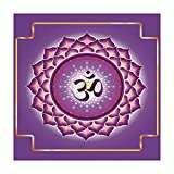 Polyester Square Tablecloth,Lotus,Arabesque Chakra and Meditation Circle Asian Spiritual Hippie Yoga Illustration Decorative,Yellow Purple,Dining Room Kitchen Picnic Table Cloth Cover,for Outdoor Indo