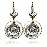 Taurus Zodiac Sign Astrology Earrings - April and May Birthday Gifts