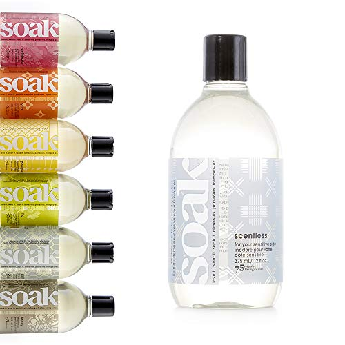 Soak Wash - Soak Laundry Soap - Plant-derived Liquid Fabric Wash and Cleaner - 375 mL / 12 fl. oz, 75+ Washes - Scentless