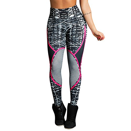 URIBAKE ❤ Women's Workout Leggings High Waist Ultra Soft Print Fitness Sports Gym Running Yoga Athletic Pants -