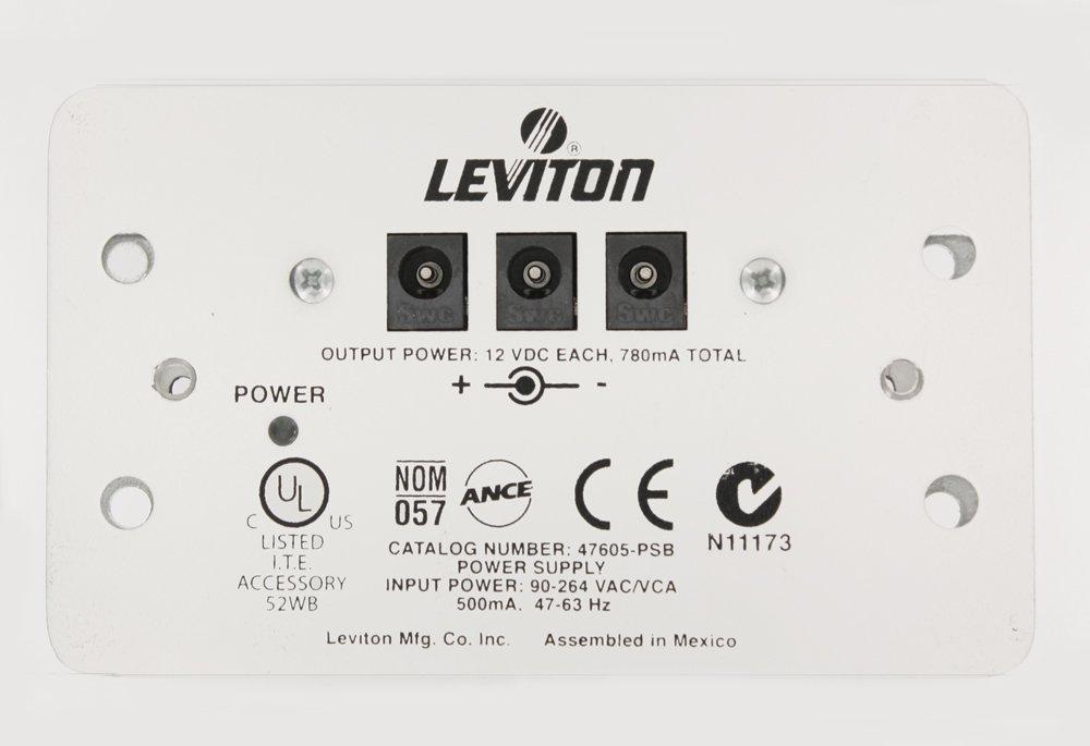 Leviton 47605-PSB Universal Mini DC Power Supply, White