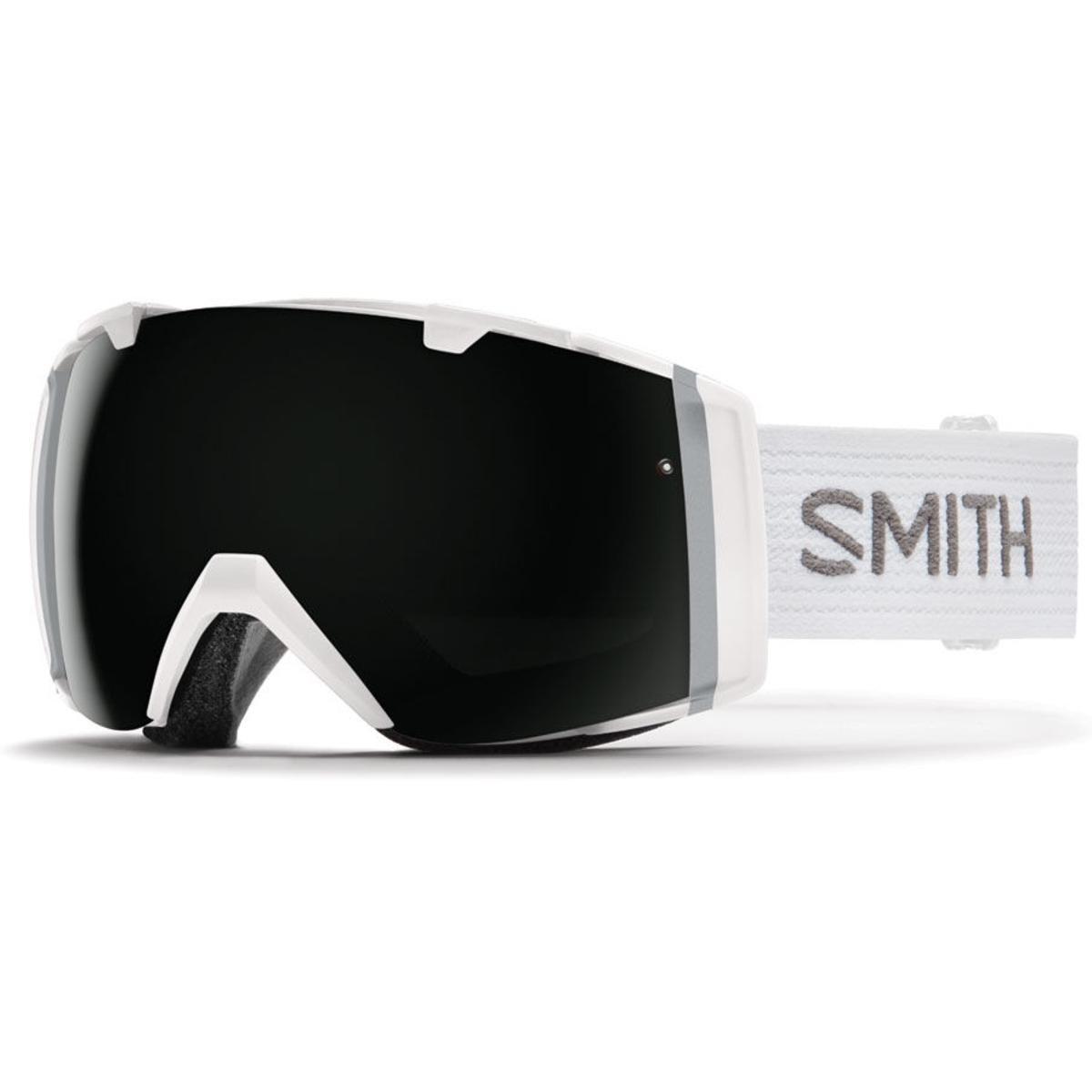 Smith Optics Mens IO Goggles, White/Blackout Yellow Sensor Mirror - OS