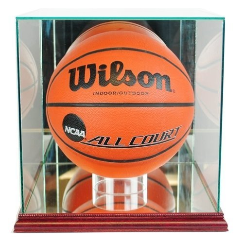 Perfect Cases Basketball Display Case with Glass Top and Wood ()