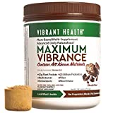Vibrant Health - Maximum Vibrance Chocolate, Plant-based All in One Green Futurefood, 15 Servings