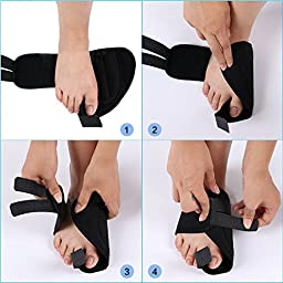 Bringsine Bunion Splint, Big Toe Joint Pain Relief for Crooked Toes Alignment, Bunion Correctors, Bunion Relief for Daytime and Bedtime, Ease Foot Pain, Prevent Bunion Surgery 1 Pair
