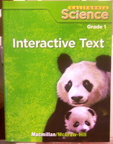 California Science Grade 1 Interactive Text