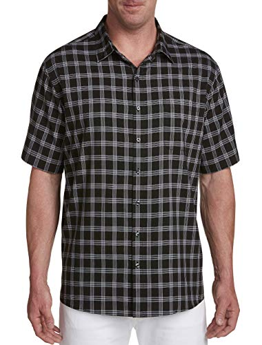 Synrgy by DXL Big and Tall Microfiber Glen Plaid Sport Shirt