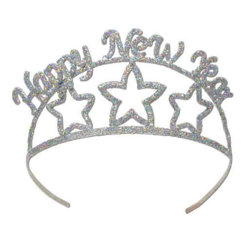 Beistle Glittered Metal Happy New Year Tiara