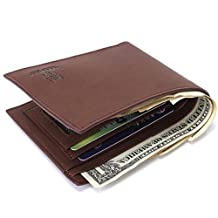 ABC® Mens Faux Leather ID Credit Card Holder Clutch Bifold Coin Purse Wallet