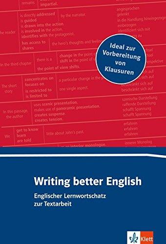 Writing better English: Lernwortschatz zur Textarbeit