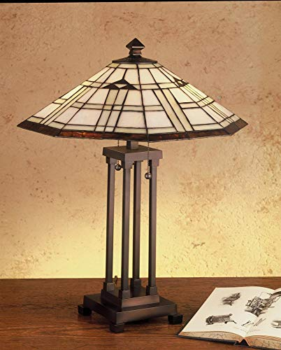 Meyda Tiffany 50281 Stained Glass/Tiffany Table Lamp from the Arrowhead Missio, Tiffany Glass Arrowhead Glass Table Lamp