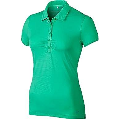 Nike para Mujer DRI-FIT Mini Rayas Golf Polo Verde Esmeralda ...