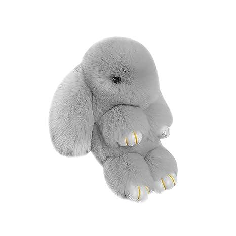 BEAUTPIEN Forma de Conejo Llavero decoración Conejito ...