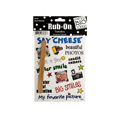 123-Wholesale - Set of 48 Photo Sayings Rub-On Transfers - Scrapbooking Rub-ons by 123-Wholesale