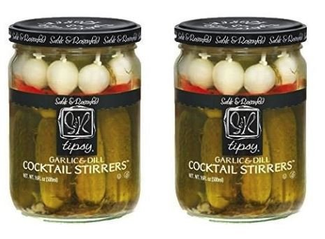- Sable & Rosenfeld NEW All Natural, GMO-Certified Tipsy Cocktail Garnish Stirrers of Gherkins, Onions, and Olives 16 oz (Pack of 2)