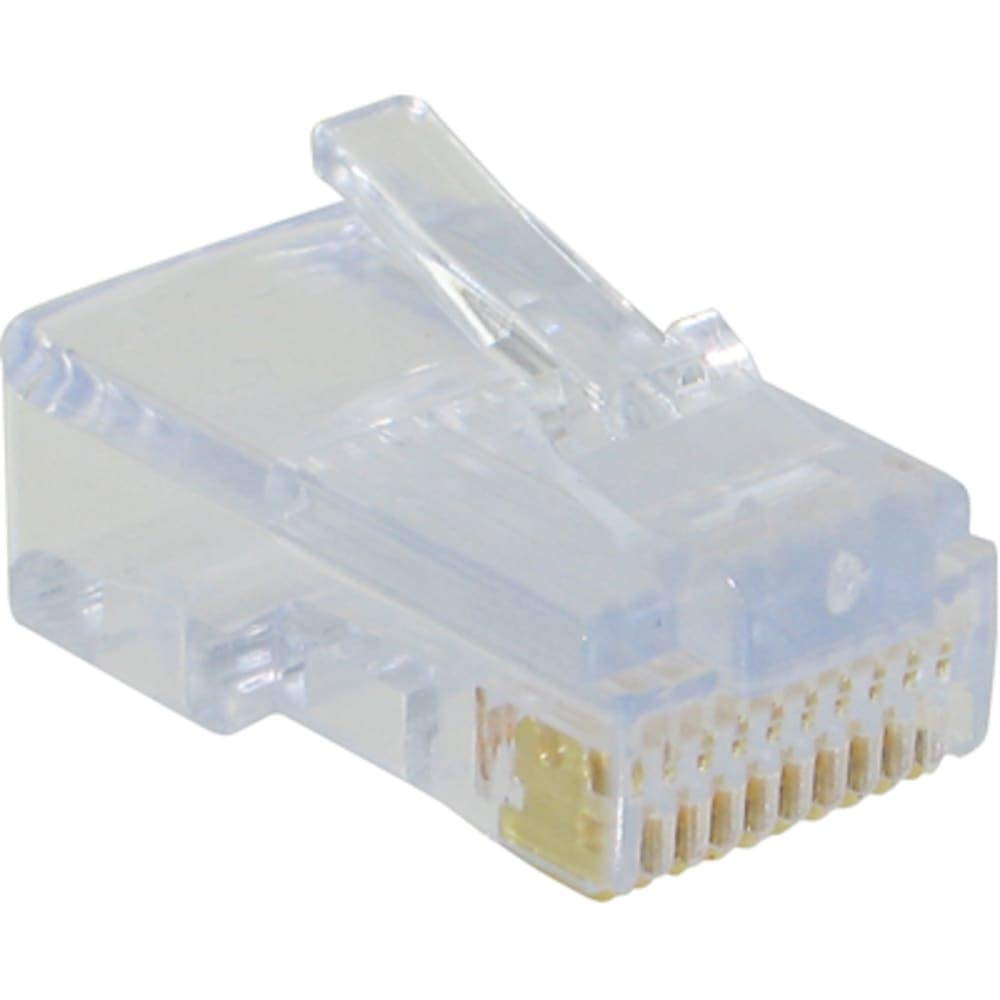 connector; modular plug; rj45(10p10c); cat5; solid/strand cond; round unshld cable, Pack of 20
