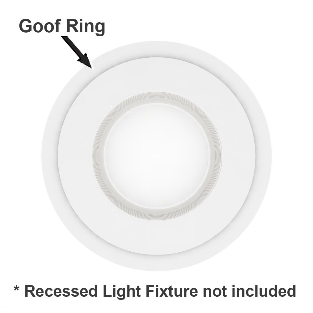 5 pack white plastic trim ring for 8 inch recessed can down light