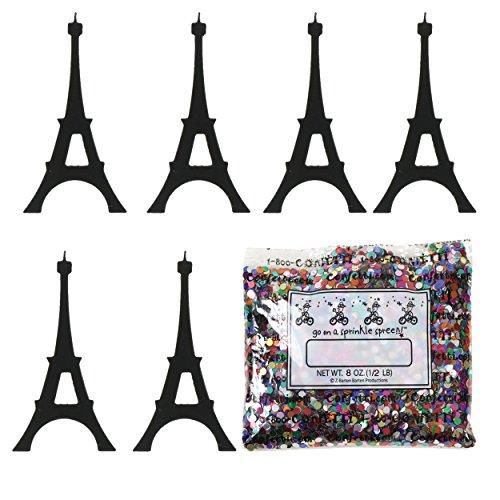 Confetti Eiffel Tower Black - Half Pound Bag (8 oz) FREE SHIPPING --- - Bag Jimmy Black