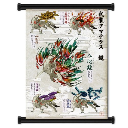 - Okami Videogame Fabric Wall Scroll Poster (31