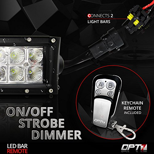 Opt7 14 Gauge 380w Dual Wiring Harness With Wireless Remote For Led Light Bars